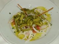 julienne di seppie e zucchine all'agro